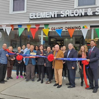 Grand Opening Ribbon cutting at Element Salon and Spa