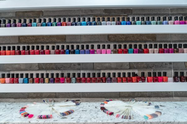 Photo of nail polish colors at Element Salon and Spa